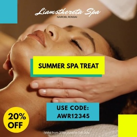 SUMMER SPA AND MASSAGE Instagram Post template