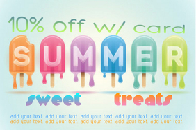summer special discount business ad flyer