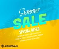 Summer Special Sale Banner สามเหลี่ยมขนาดกลาง template