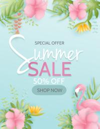 Summer Spring,spring sale Flyer (US Letter) template