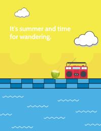 Summer Spring Flyer Template 传单(美国信函)