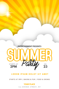 Summer Sun Party Flyer Template