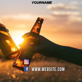 SUMMER SUNSET PARTY AD SOCIAL MEDIA TEMPLATE