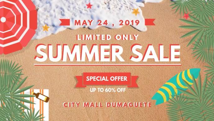 Summer Super Sale Store Display