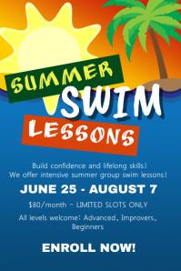 Summer Swim Lessons Flyer Template
