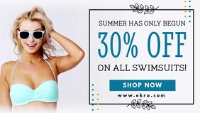 Summer Swimwear Apparel Sale Video Banner