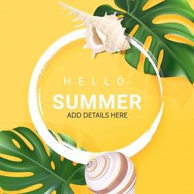 Summer template,hello summer