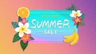 Summer Template Digitale Vertoning (16:9)