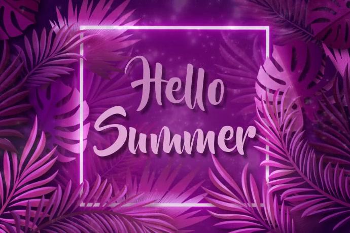 Summer Template Póster