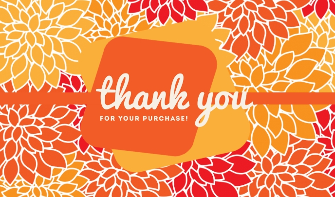 Summer Thank You For Your Purchase Templates Tag