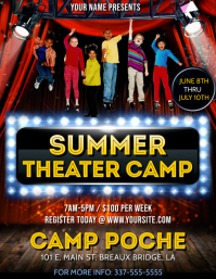 SUMMER THEATER CAMP FLYER TEMPLATE