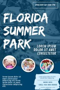 Summer Theme Park Flyer Template
