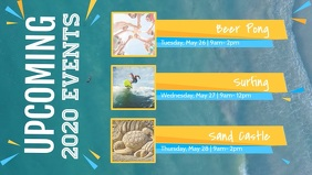 Summer Themed Upcoming Events Facebook Cover