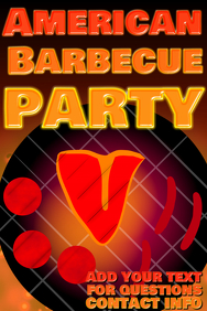 summer time yard party- american barbecue - bbq grill image