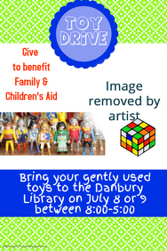 Bright Summer Toy Drive Poster Flyer