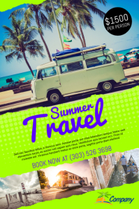 Summer Travel Poster Template