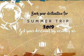 Summer trip Cartel de 4 × 6 pulg. template