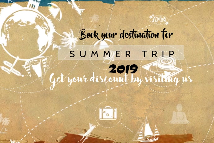 Summer trip Transparent 4 stopy × 6 stóp template