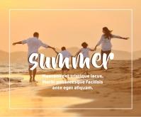 Summer Trip Template Medium Rectangle