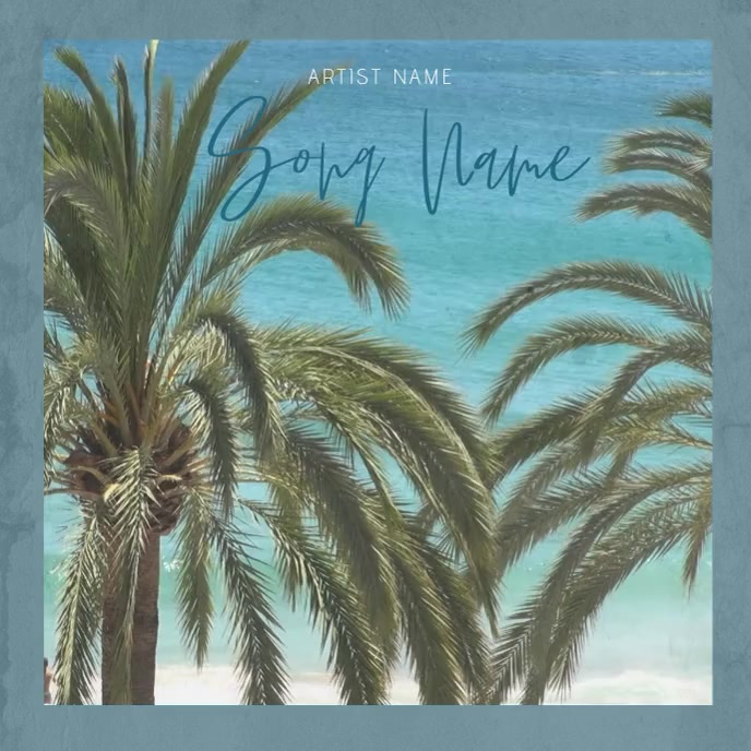 Summer Tropical Music Album Cover template