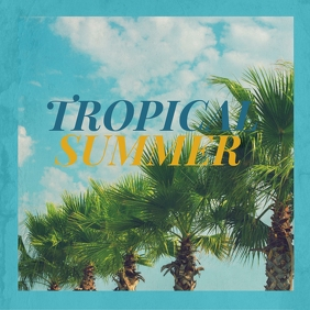 Summer Tropical Music Album Cover template