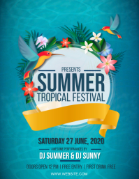 SUMMER TROPICAL PARTY EVENT Design Template