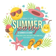 SUMMER TROPICAL PARTY EVENT Design Template Iphosti le-Instagram
