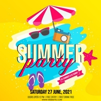 SUMMER TROPICAL PARTY EVENT Design Template Instagram Post