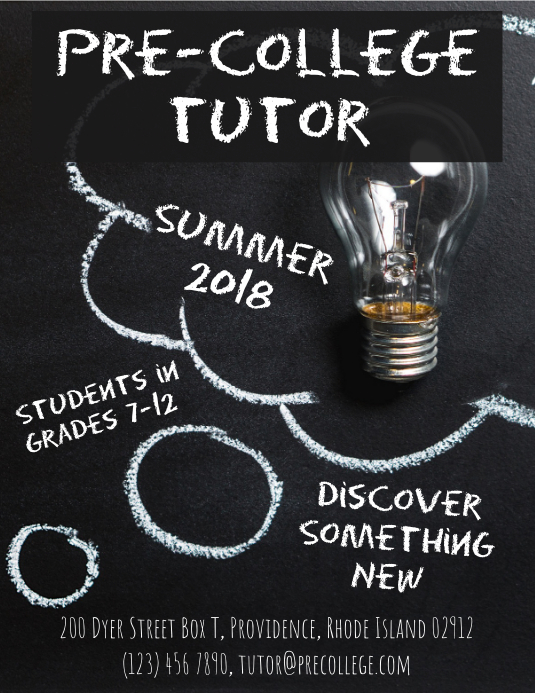 summer tutoring flyer advertisement template postermywall