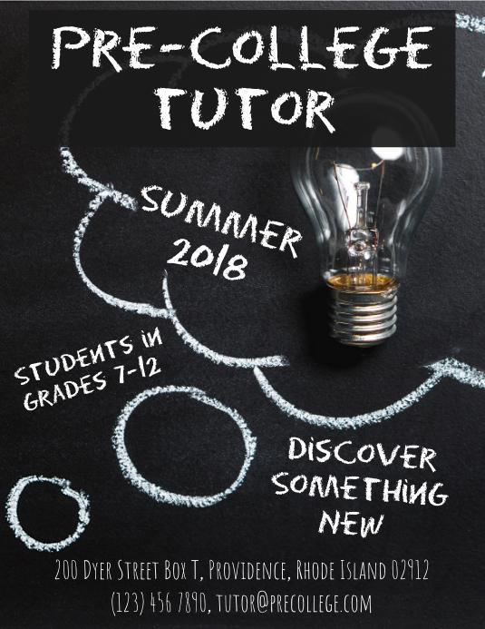 Summer tutoring flyer advertisement template