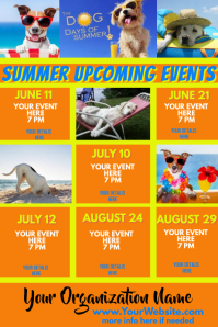 Summer Upcoming Events Calendar Dog Days