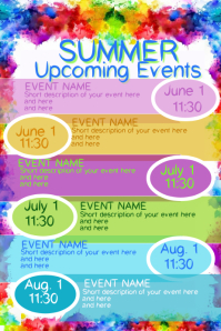 Summer Upcoming Events