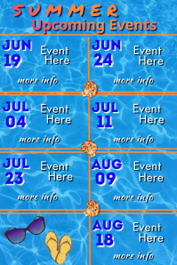 Summer Upcoming Events 海报 template