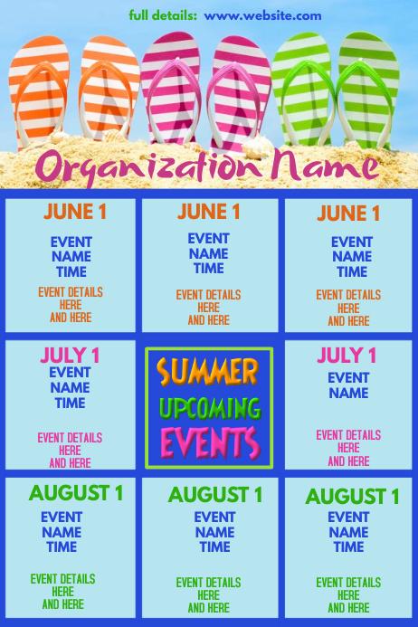 Summer Upcoming Events Flip Flops