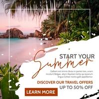 summer vacation advertisement instagram post Instagram-Beitrag template