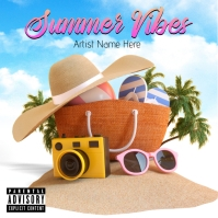 Summer Vibes Album Cover template