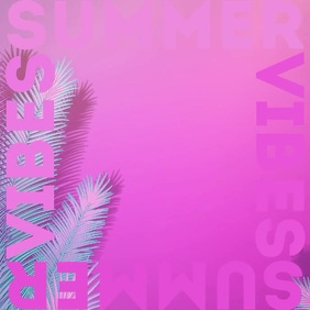 Summer vibes album cover video 2 template