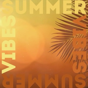 Summer vibes album cover video template