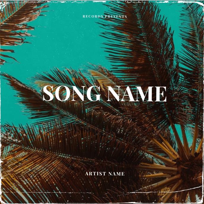 Summer Vibes CD Album Cover Art Template