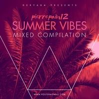 Summer Vibes CD Album Cover Template Capa de álbum