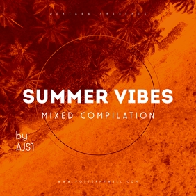Summer Vibes CD Album Cover Template Обложка альбома