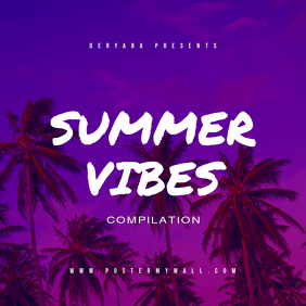 Summer Vibes CD Album Cover Template