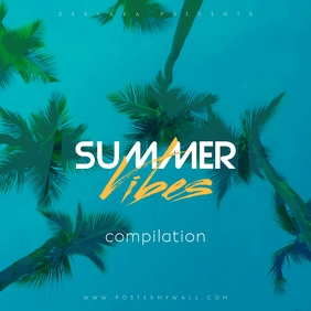 Summer Vibes CD Album Cover Template ปกอัลบั้ม