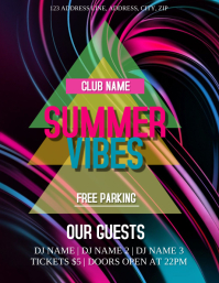 Summer Vibes Club /Party Event Flyer Template