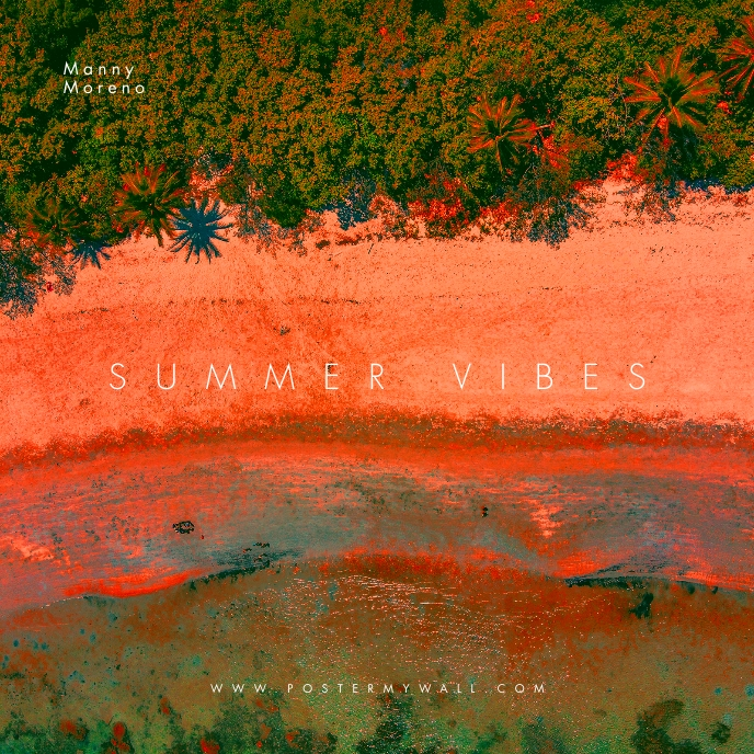 Summer Vibes Colorful CD Cover Music Sampul Album template