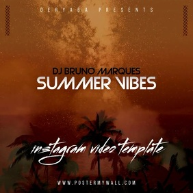 Summer Vibes Compilation Video CD Cover Square (1:1) template