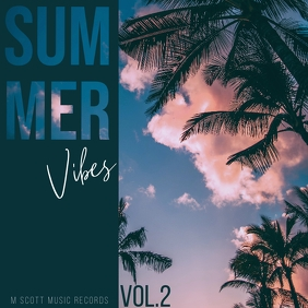 Summer vibes palms album cover art 2