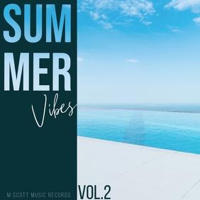 Summer vibes palms album cover art 3 Okładka albumu template