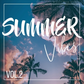 Summer vibes palms album cover art