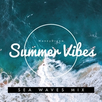 Summer Vibes Sea Beach CD Cover Music template